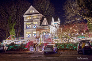 Queen Anne Victorian Mansion Miracle of a Million Lights